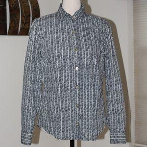 Nautica,  button down shirt blue & white medium C1